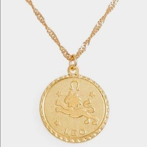 Jewelry - 🎉HOST PICK! 24K GOLD ZODIAC MEDALLION🌗ALL SIGNS!